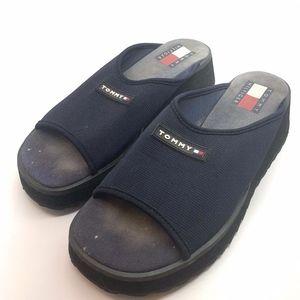 Vintage Tommy Hilfiger 7.5 Slides Sandals Blue
